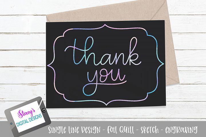Thank you SVG - Foil quill / sketch file - Card design