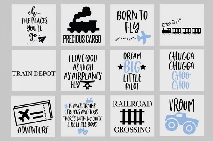 Adventure SVG Bundle, Nursery, Airplane Svg, Trains, Cricut