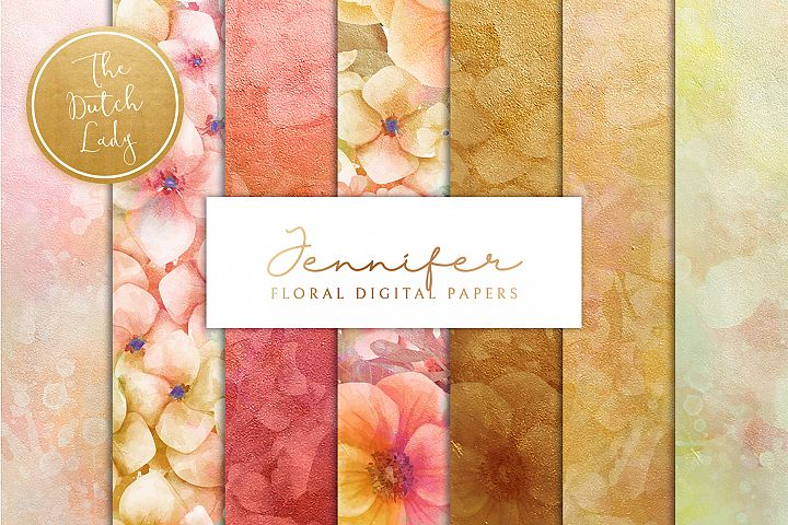 Floral Backgrounds & Paper Designs - Jennifer