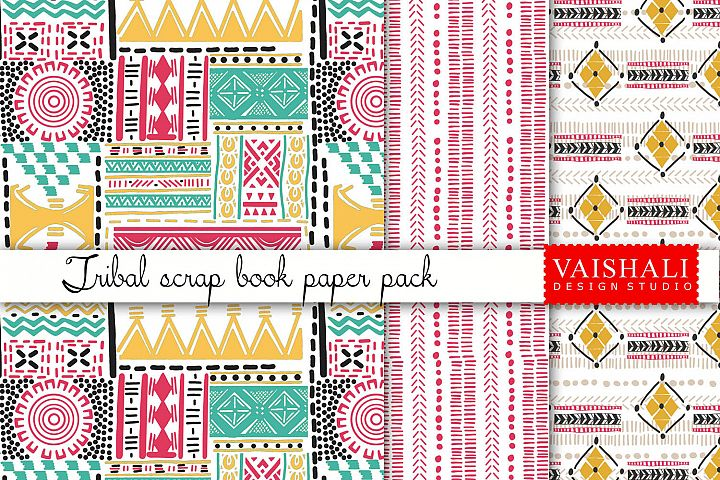 TRIBAL coordinated print set, set of 3 designs