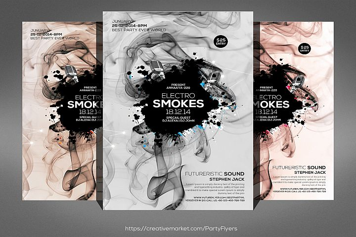 Smoke Night Party Flyer
