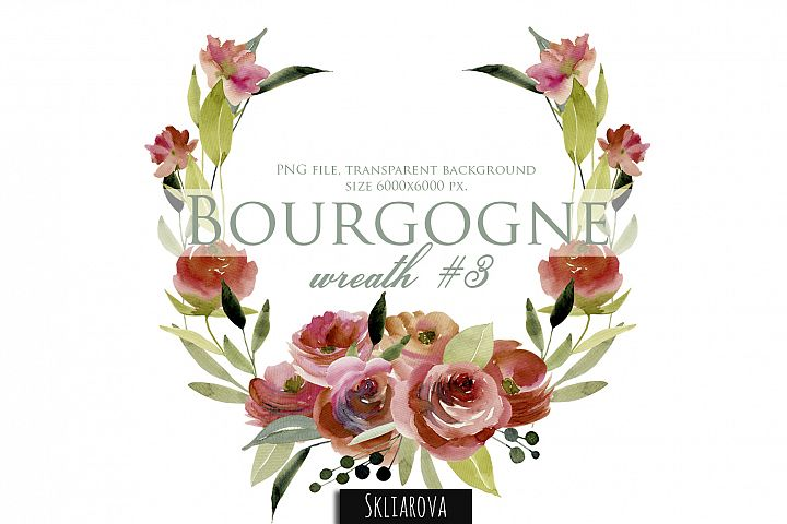 Bourgogne. Wreath #3