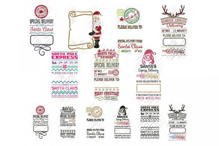 Santa Sack SVG Bundle Christmas in SVG, DXF, PNG, EPS, JPEG