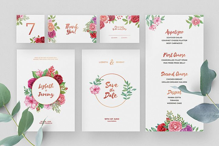 Lizbeth - Wedding Invitation Suite