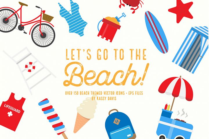 Lets Go To The Beach! Icon Set