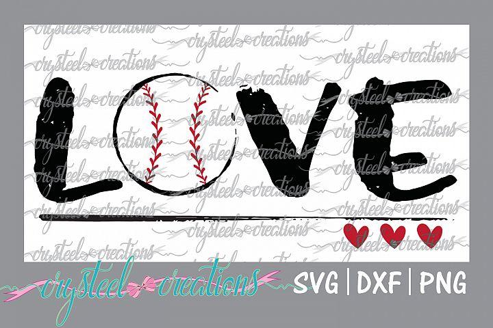 Love Baseball SVG, DXF, PNG