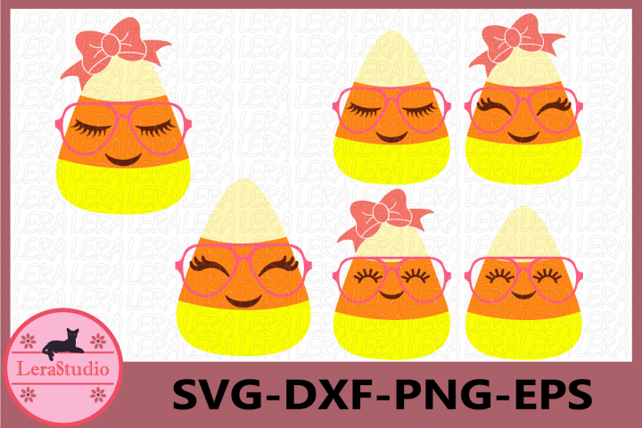 Candy Corn Cutie SVG, Candy Corn Face Eyelashes Halloween