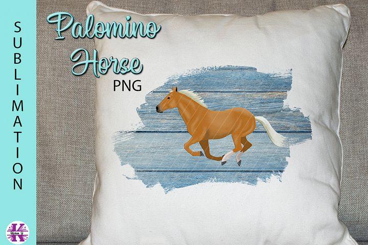 Palomino Horse PNG Sublimation