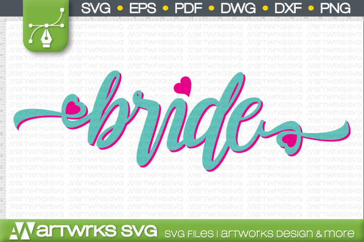 Bride script font SVG files for Cricut   Handwritten font