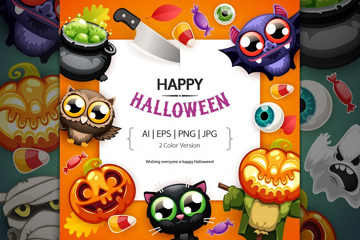 Happy Halloween BG with Copy Space
