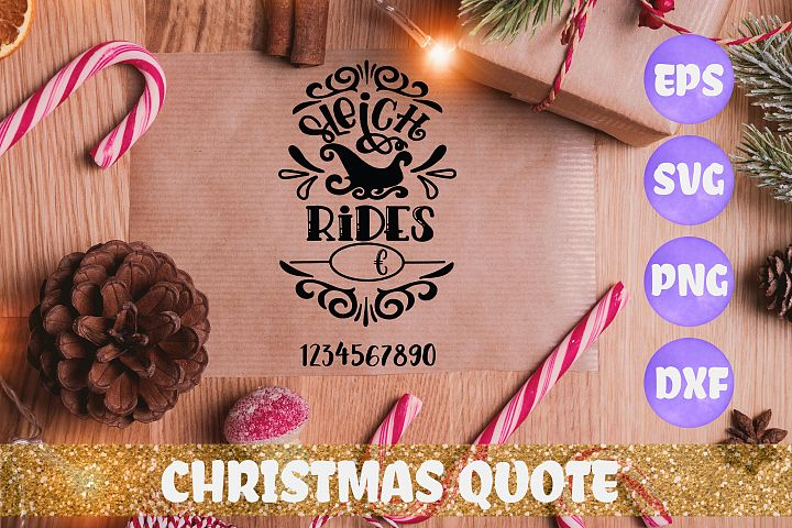 Sleigh rides with price Christmas quote SVG DXF EPS PNG fi