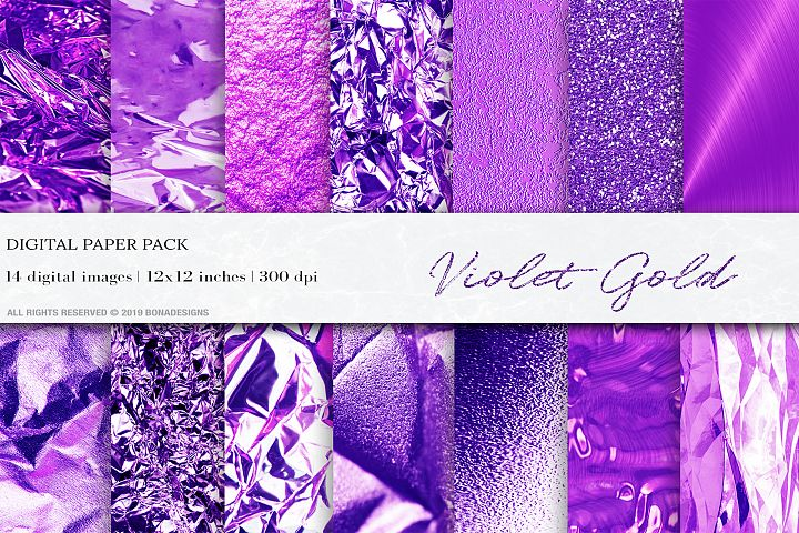 Gold Textures, Gold Violet Background, Gold Foil Textures