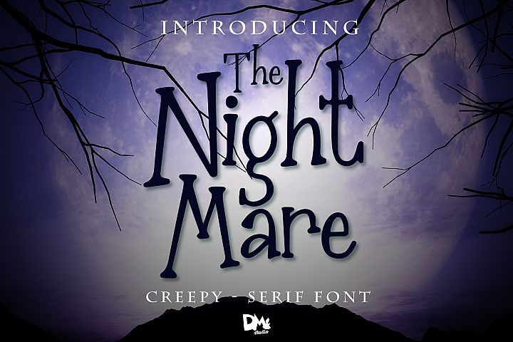 The Nightmare - Creepy Serif Font