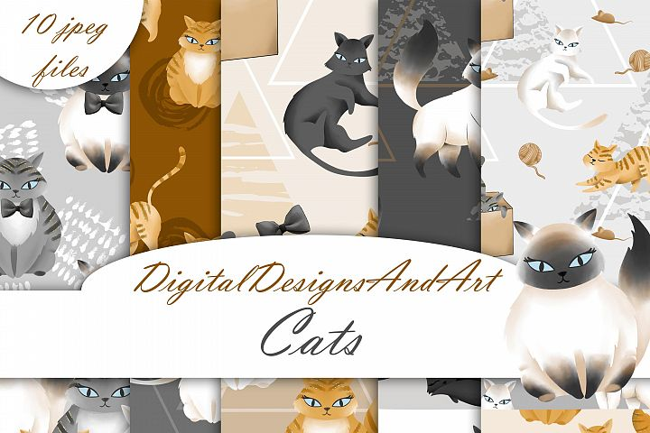 Cat digital paper