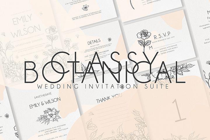Classy Botanical Wedding Suite
