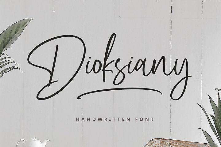 Dioksiany Font!