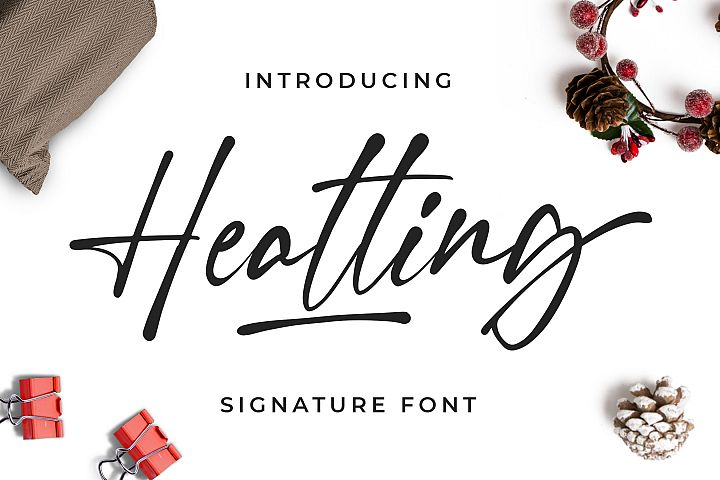 Heatting - Signature Font