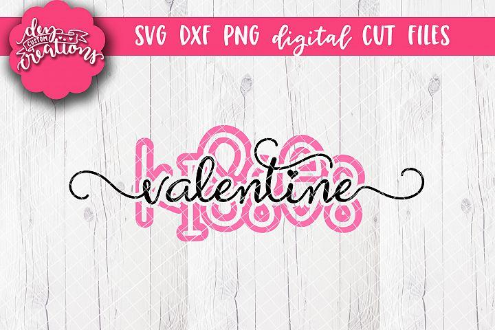 Valentine Kisses 1 - SVG DXF PNG Cut file