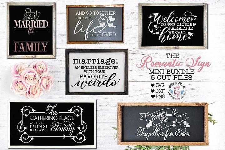 The Romantic Sign Cut Files Bundle