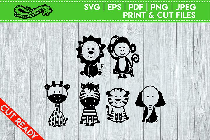 Set of 6 Cute Animals