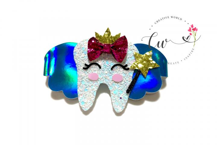 Cute Tooth Fairies Digital Template | Hair Bow Template