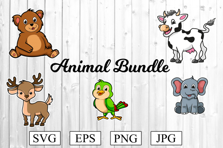 Animal SVG Bundle - Bear Svg - Cow SVG and much more