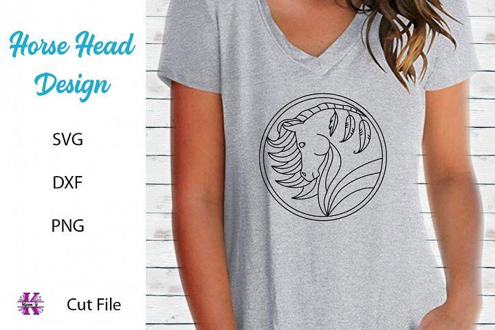 Horse Head Design SVG Cutting File
