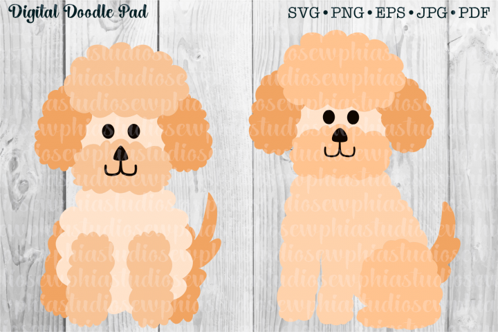 Two Poodles by Digital Doodle Pad