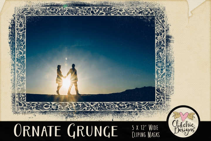 Grunge Clipping Masks - Ornate Photoshop Masks & Tutorial