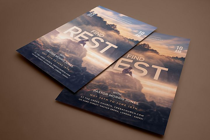 Find Rest - Church Flyer Template