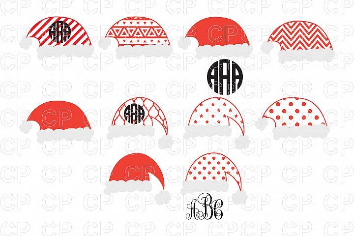Santa Hats Bundle SVG Cut Files, Santa Hats Clipart