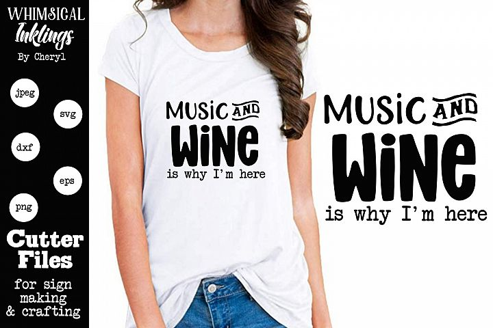 Music and Wine SVG