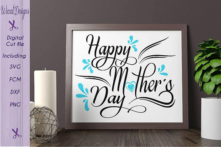Happy mothers day svg ,Word frame Mom svg, Mother svg, mothers day svg, quote svg, mom gift svg, flowers svg