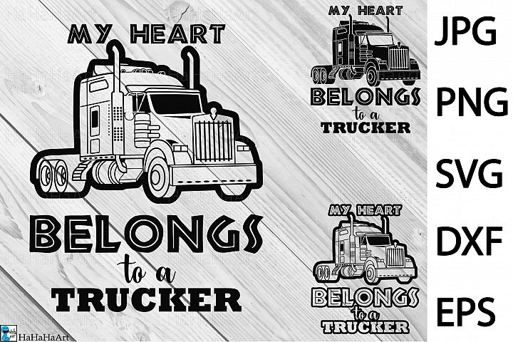 Truck Driver - Clip art / Cutting Files 396c
