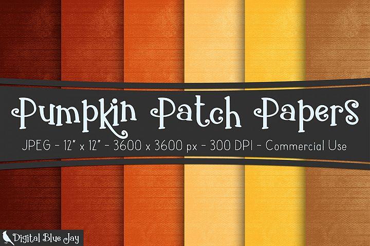 Digital Paper Textured Backgrounds - Pumpkin Patch