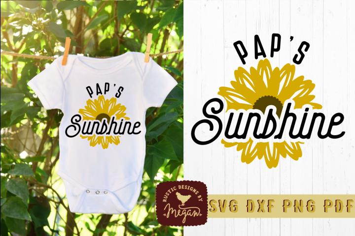 Paps Sunshine Kids Summer Shirt SVG DXF Cut File