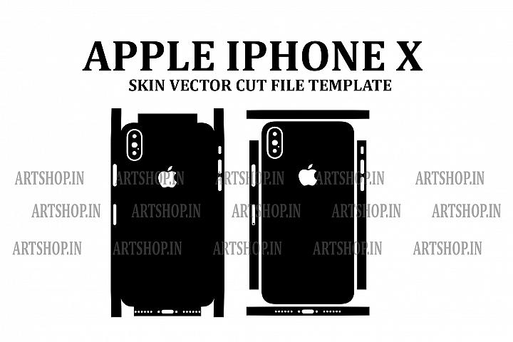 Apple iPhone X Vinyl Skin Vector Cut File