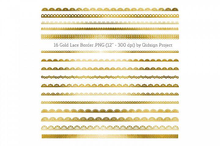 Gold Lace Border Clipart
