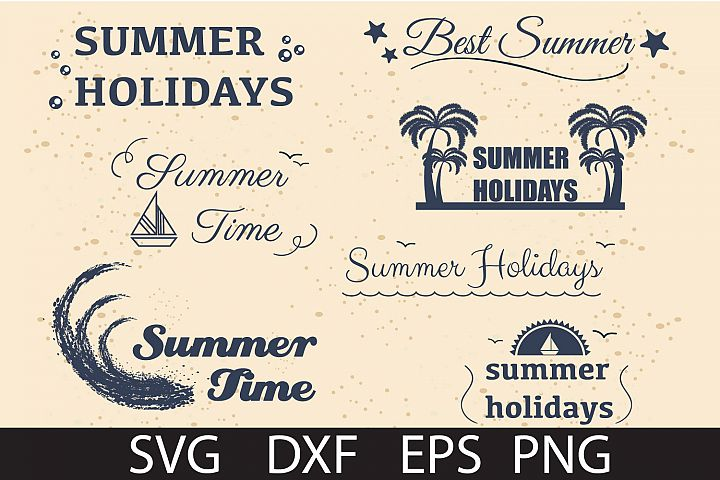 SUMMER HOLIDAY PACK SVG DXF PNG EPS