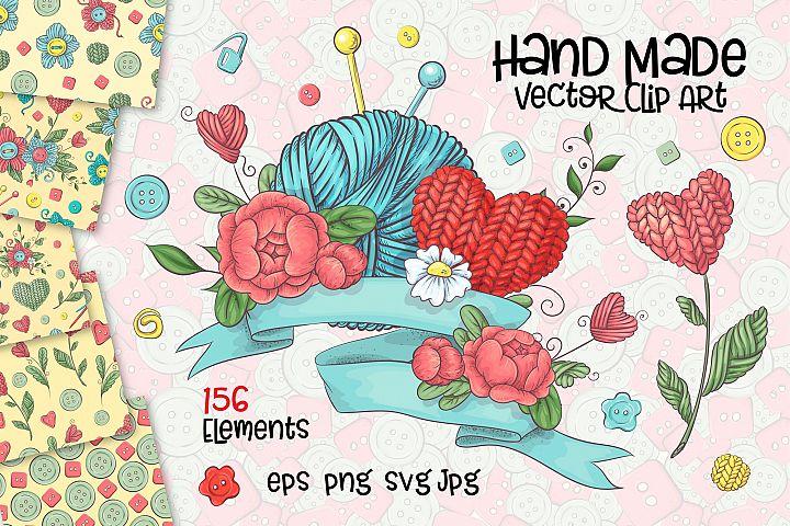 Hand Made vector clip art