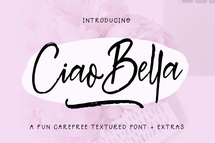 Ciao Bella Font  Extras