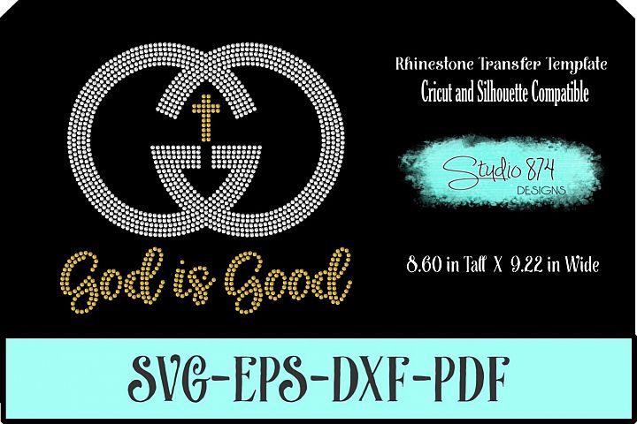 Faith Rhinestone SVG Template - God is Good