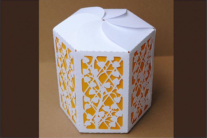 Box 8 Hexagonal single piece with interior color, SVG files