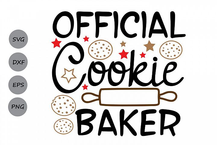 Official Cookie Baker Svg, Christmas Svg, Christmas Cookies.