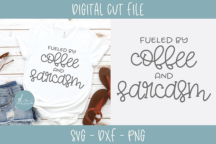 Fueled By Coffee And Chaos - SVG