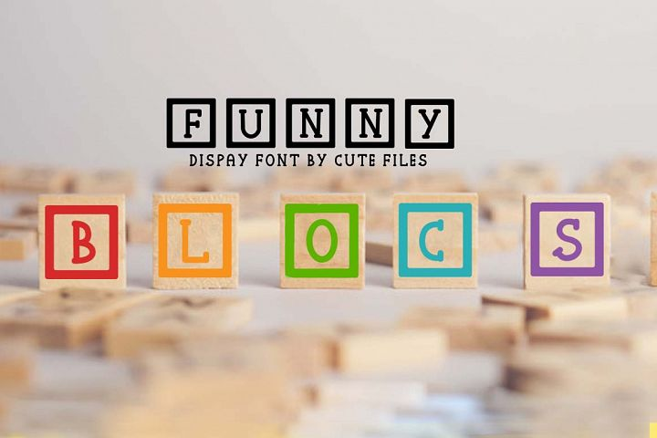 Funny blocks font for building blocks party
