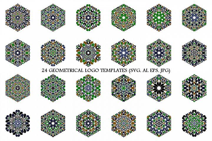 24 Floral Hexagon Logo Designs