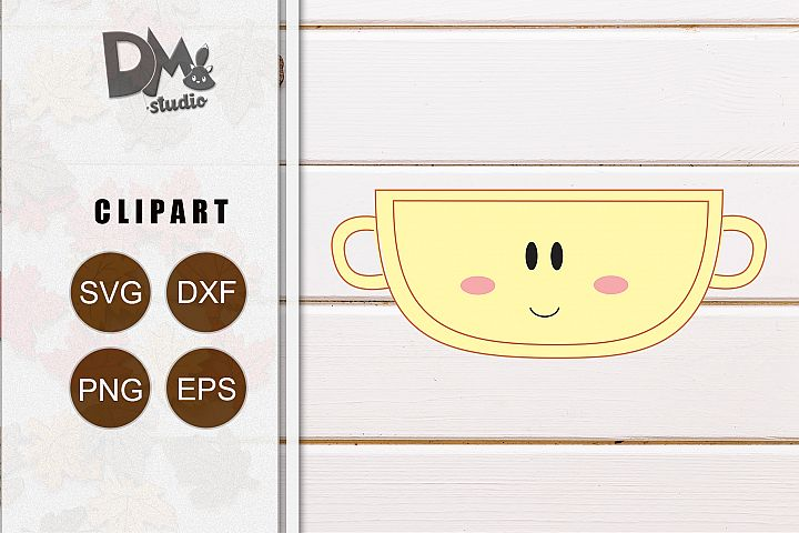 Cute Baby Cup - Clip Art Element