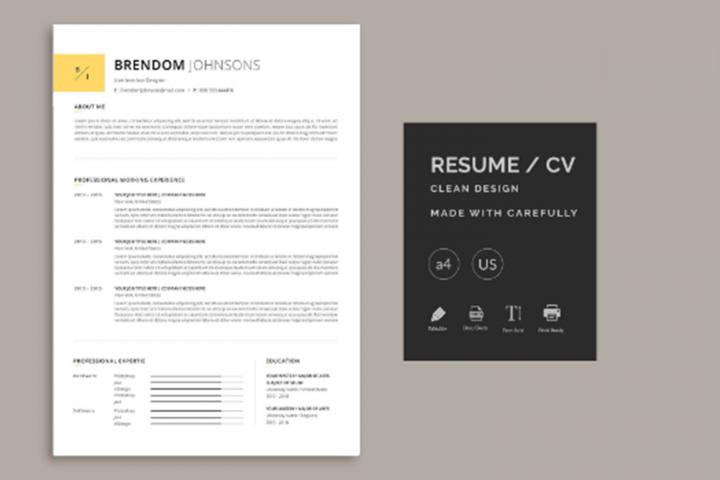 Minimal Resume in Word