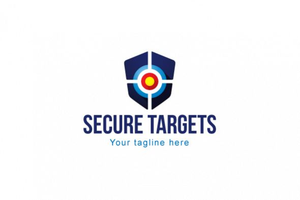 Secure Targets Crest Shield Stock Logo Template